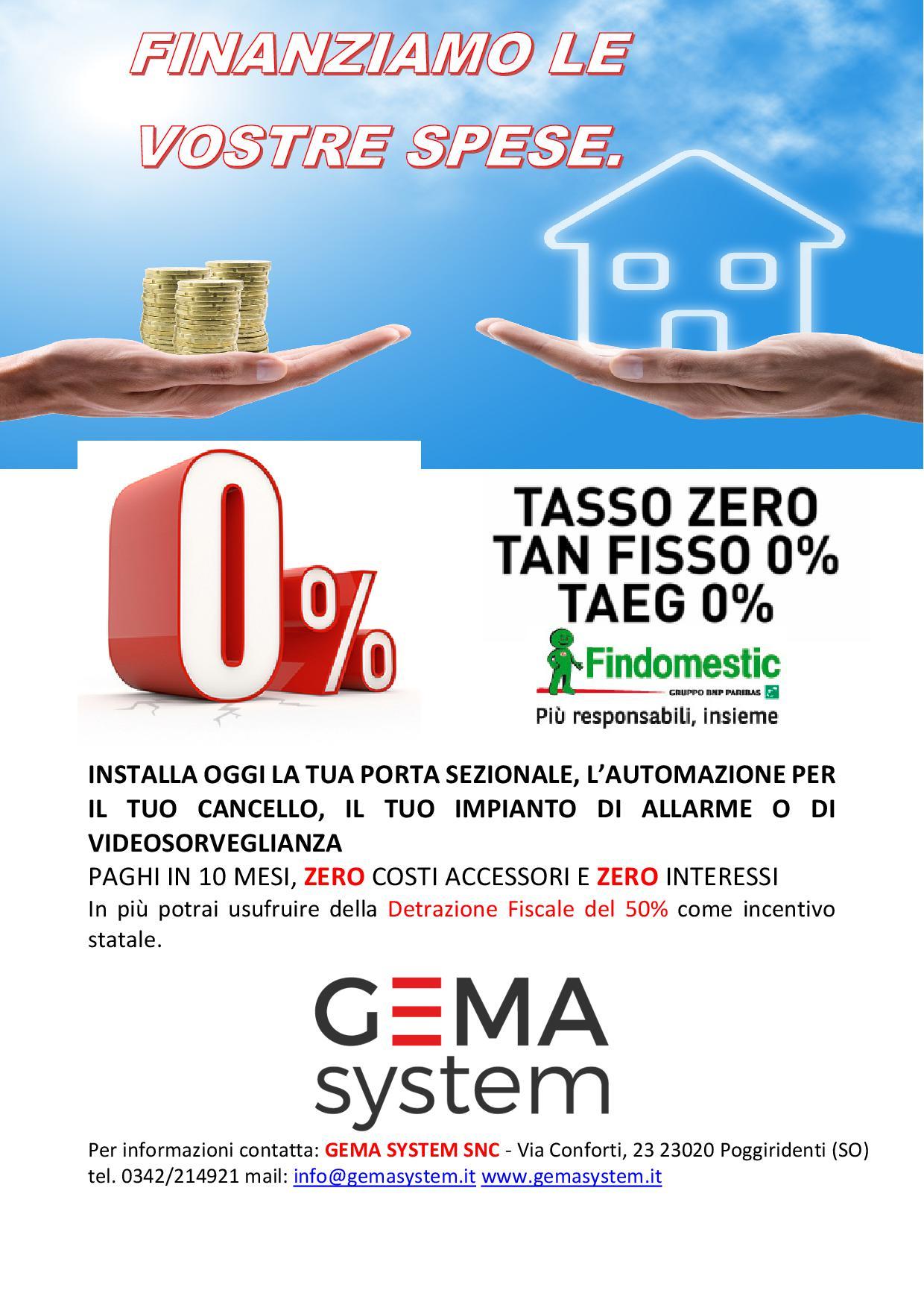 Finanziamenti a tasso zero per i vostri acquisti for Arredamento tasso zero